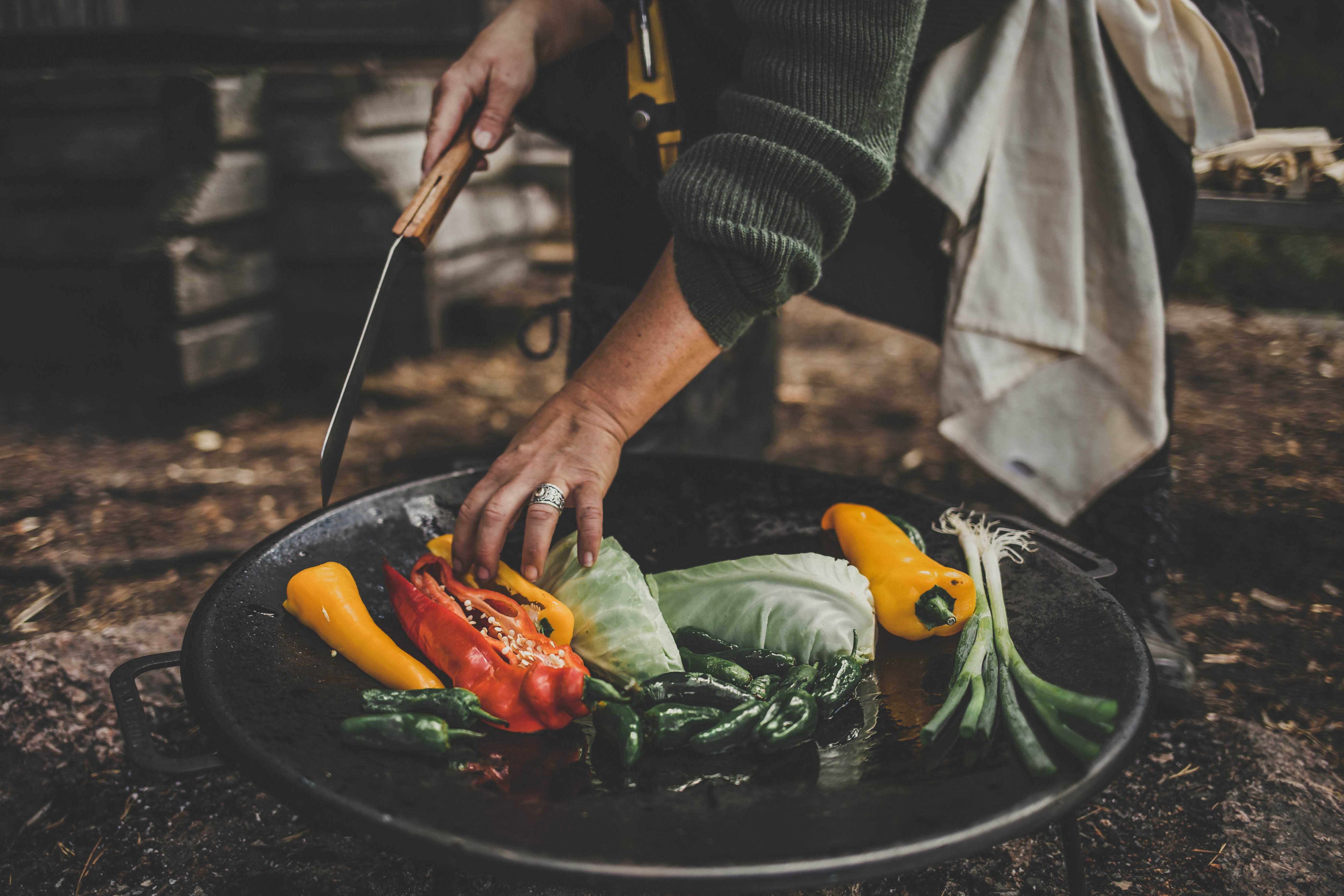 Hiking and outdoor cooking