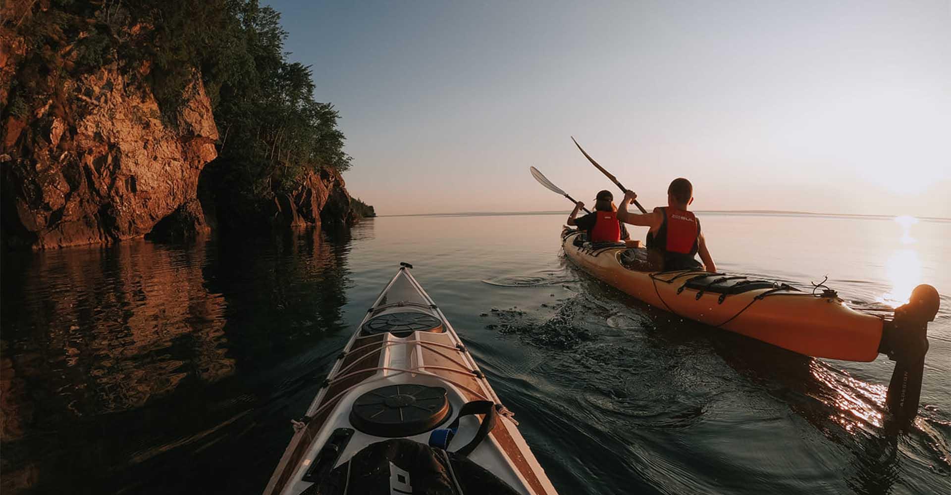 Privat guide – paddling till Ombergs grottor